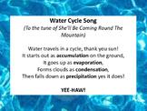 Water Cycle Songs!