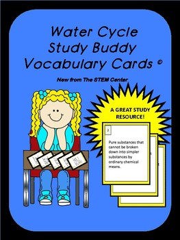 Water Cycle Study Buddy Cards
