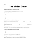 Water Cycle Study Jams