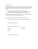 Water Cycle Tableau Directions Sheet