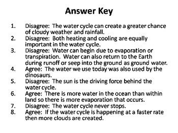Water Cycle Task Cards {Agree/Disagree Statement} Common Core 5.P.2.1 {QR Codes}