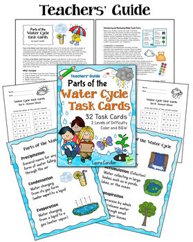 Water Cycle Task Cards Bundle