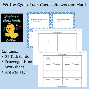 Water Cycle Task Cards Scavenger Hunt