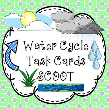 Water Cycle Task Cards - Scoot Game clouds & precipitation