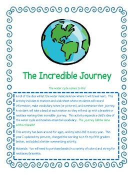 Water Cycle -The Incredible Jouney - Bead Lab