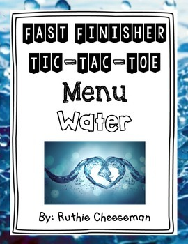 Water Cycle Tic Tac Toe Menu
