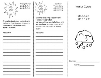 Water Cycle Trifold
