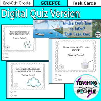 Water Cycle Task Cards True or False