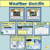 Weather Bundle - Water Cycle, Types of Clouds, Presentations Worksheets And more