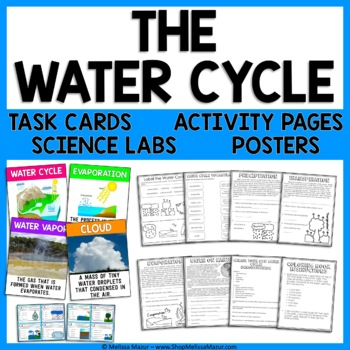 Water Cycle Science Unit Reading Passages Activities And Task Cards