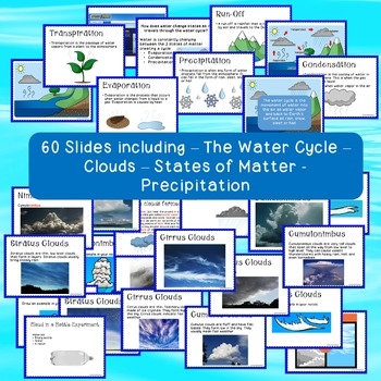 Water Cycle Unit Bundle includes States of Matter/Clouds/Precipitation