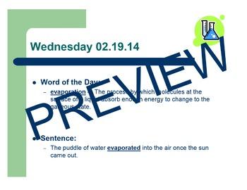 Water Cycle Vocabulary BUNDLE