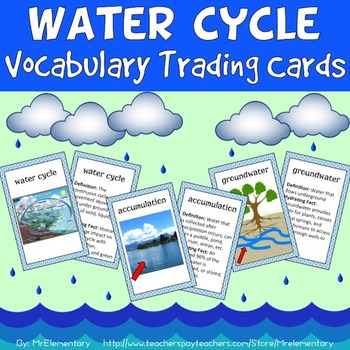 Water Cycle Vocabulary Cards