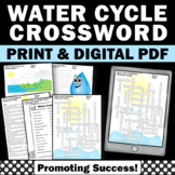 Water Cycle Activities, Weather Unit, Science Vocabulary Crossword Puzzle