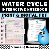 Water Cycle Craft, Weather Unit, Water Cycle Interactive Notebook Activity Quiz