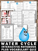 Water Cycle Interactive Science Notebook Vocabulary Activi
