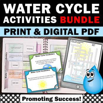 Water Cycle Activities BUNDLE Water Cycle Cut and Paste Craftivity, Weather Unit