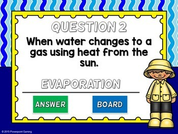 Water Cycle Vocabulary Mini Game