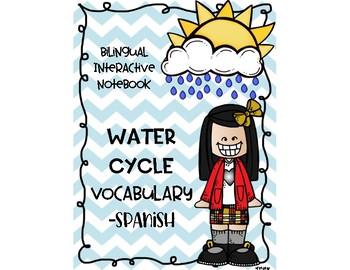 Water Cycle Vocabulary Spanish - Ciclo del agua vocabulario - Ciencias