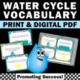 Water Cycle Task Cards, 4th 5th Grade Science Review, Water Cycle Activities