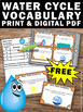 FREE Water Cycle Activities, Water Cycle Task Cards, Water Cycle Games