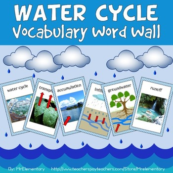 Water Cycle Vocabulary Word Wall