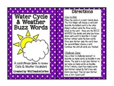 Water Cycle & Weather Buzz Words