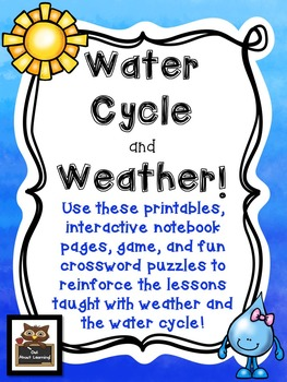 Water Cycle & Weather: Fun and Informational Printables, Notebook Pages, & More!