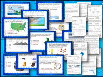 Water Cycle, Weather and Climate Review