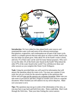 Water Cycle Webquest