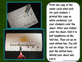 Water Cycle Wind Sock Craftivity A Weather Craft By