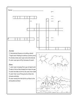 Water Cycle Word Puzzles