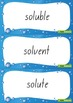 Water Cycle Word Wall Vocabulary