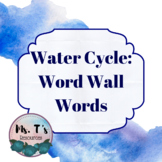 Water Cycle Word Wall Words