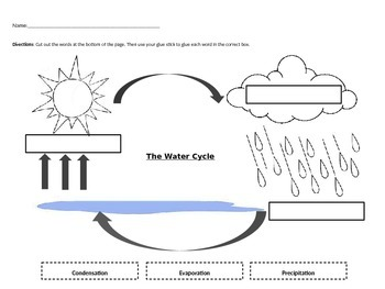 Water Cycle Worksheet Teaching Resources | Teachers Pay Teachers
