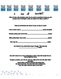 Water Cycle Worksheet- A Day of Snow