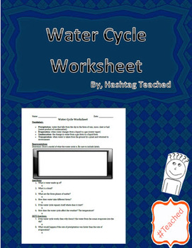 Water Cycle Worksheet Activity Assessment