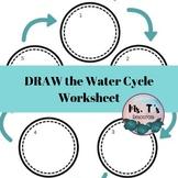 Water Cycle Worksheet - English