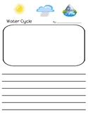 Water Cycle Writing Paper