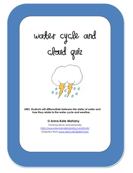 Water Cycle and Cloud Quiz