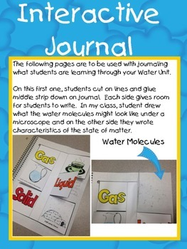 Water Cycle and States of Matter Mini-Unit