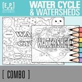 Water Cycle and Watersheds Seek and Find Science Doodle Page Combo