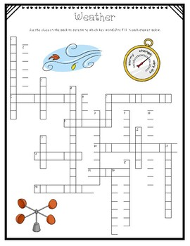 Water Cycle and Weather Crossword Puzzle Reviews