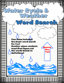 Water Cycle and Weather Word Search Fun!