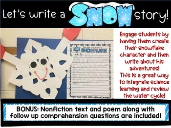 Water Cycle and Winter Writing: The Adventures of a Snowflake