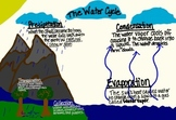 Water Cycle Poster, Student Handout & Quiz (for 3rd, 4th,