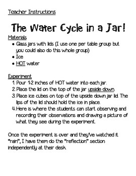 Water Cycle in a Jar Experiment