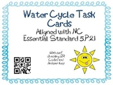 Water Cycle Task Cards 5th Grade Common Core 5.E.1 {QR Codes}