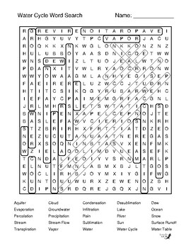 Water Cycle Word Search!