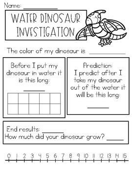 Water Dinosaur Investigation